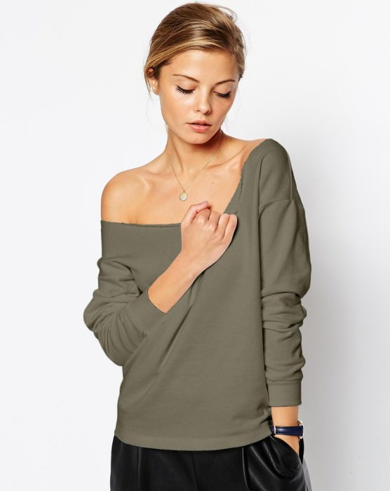 Variation #975 of The Off Shoulder Sweatshirt
