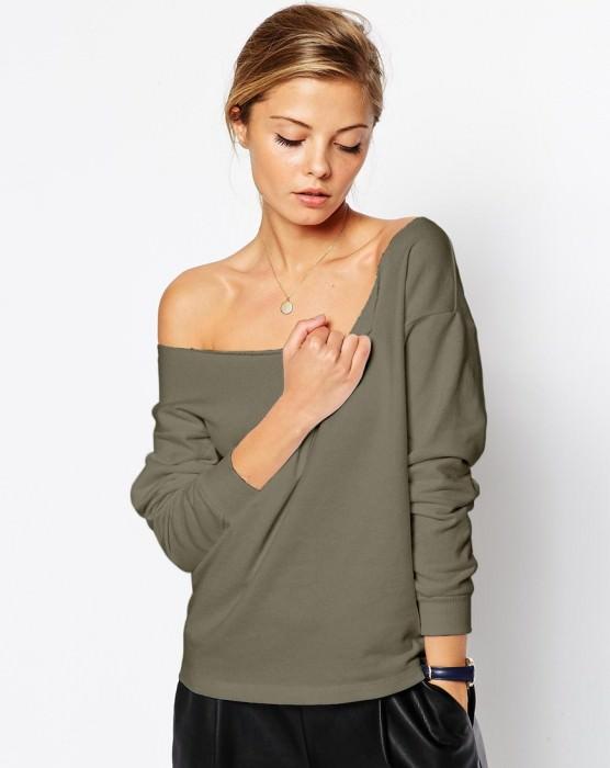 Variation #975 of The Off Shoulder Sweatshirt