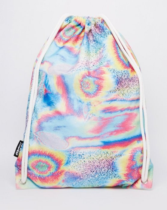 Backpack in Holigraphic Swirl Print