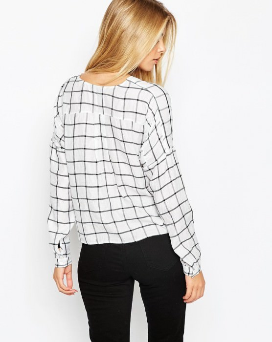Blouse in Mono Check