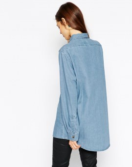 Denim Boyfriend Shirt in Pretty Vintage Wash