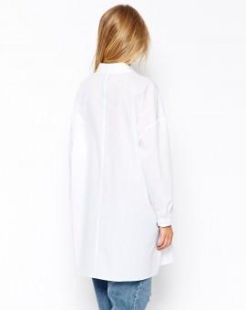 Longline White Shirt