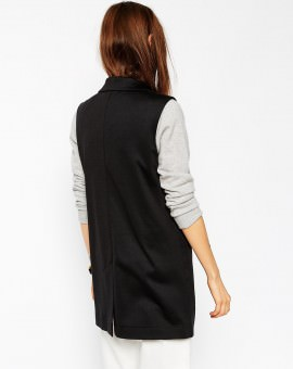 Sleeveless Ponte Blazer
