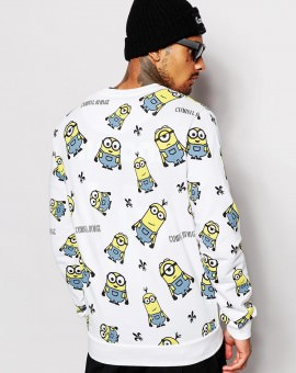 Minions Sweatshirt With All Over Print