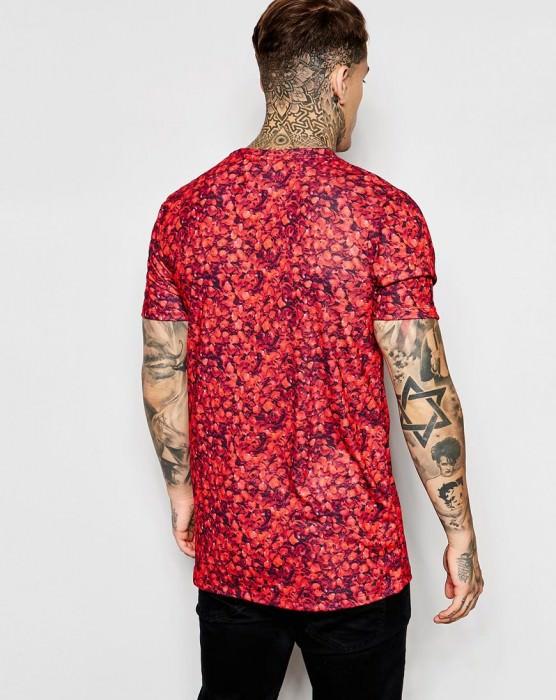 T-Shirt In Petal Print