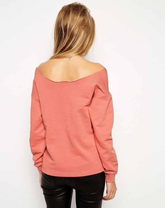 The Off Shoulder Sweatshirt