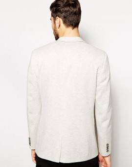 Slim Fit Blazer In Jersey
