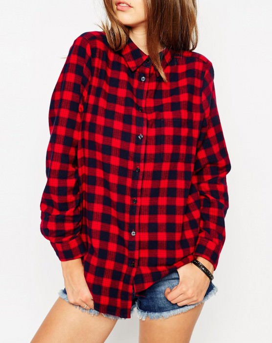 Shirt in Red Check