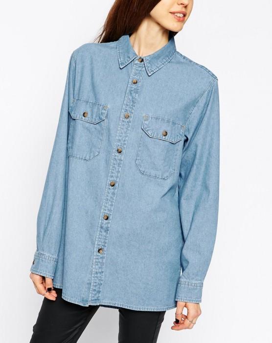 Denim Boyfriend Shirt in Pretty Vintage Wash