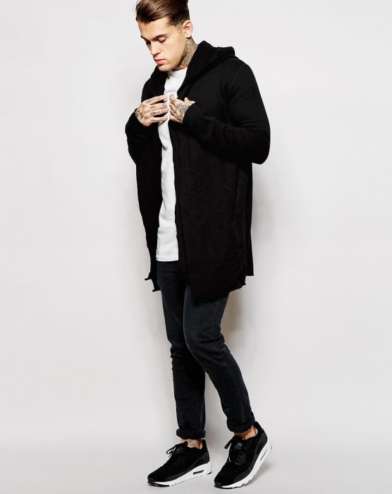 Wide Cardigan In Jersey With Double Layer
