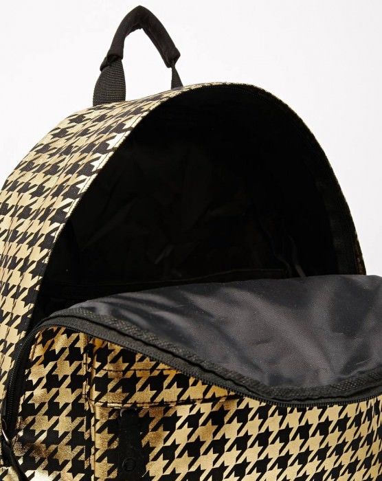 Backpack in Gold Houndstooth